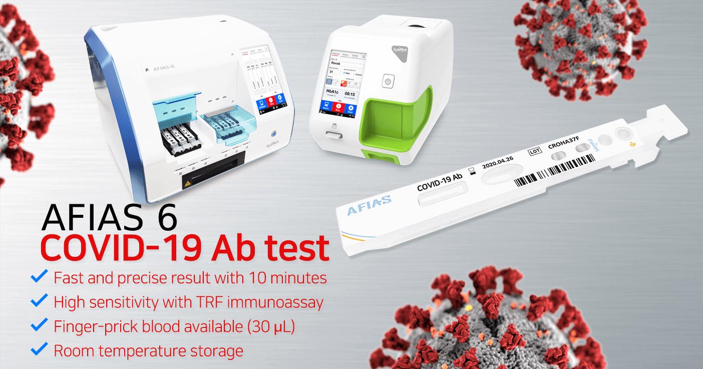 Covid-19 Antibody test with AFIAS 1 and AFIAS 6