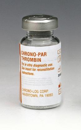 CHRONO-LOG bottle of Thrombin